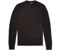 Slim-fit Mélange Cashmere Sweater