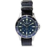 Navi Harbor Stainless Steel And Nylon-webbing Watch - Blue