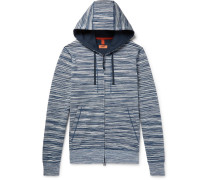 Space-dyed Loopback Cotton-jersey Zip-up Hoodie