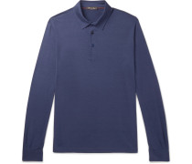 Silk And Cotton-blend Jersey Polo Shirt