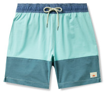 Beacon Mid-Length Colour-Blocked Swim Shorts
