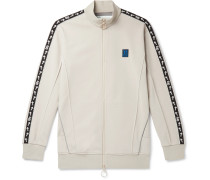 Incompiuto Printed Cotton-Blend Jersey Zip-Up Sweatshirt