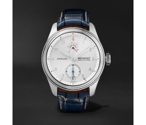 Supersonic Limited Edition Hand-Wound 43mm White Gold and Alligator Watch