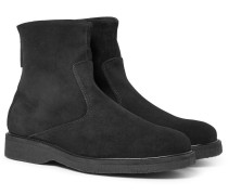 Stevens Shearling-lined Suede Boots