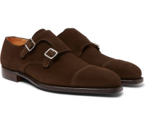 Thomas Suede Monk-strap Shoes - Brown