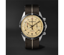BR V2-94 Automatic Chronograph 41mm Stainless Steel and Canvas Watch, Ref. No. BRV294-BEI-ST/SF