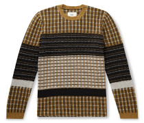 Fraction Ribbed Wool-Blend Sweater