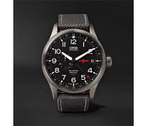 GMT Rega Limited Edition Automatic 45mm Stainless Steel and Canvas Watch, Ref. No. 01 748 7710 4284