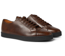 Levah Cap-toe Leather Sneakers