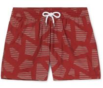 Modernist Slim-Fit Short-Length Printed Swim Shorts