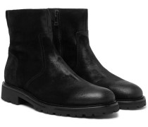 Attwell Burnished-suede Boots - Black