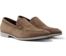 Suede Loafers - Light brown