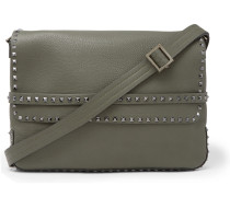 Valentino Garavani Rockstud Full-grain Leather Messenger Bag
