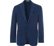 Navy K-jacket Cotton-moleskin Blazer - Navy