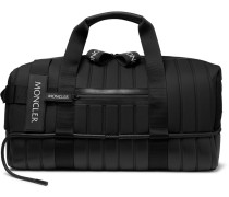 5 Moncler Craig Green Quilted Canvas, Leather And Mesh Holdall - Black