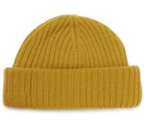 Dock Ribbed Wool Beanie - Yellow