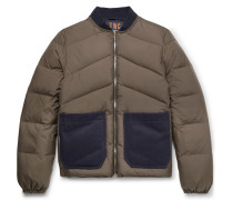 Reversible Quilted-shell Down Jacket - Army green