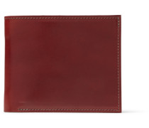 Horween Shell Cordovan Leather Billfold Wallet - Brown