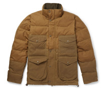 Cruiser Quilted Cotton-canvas Down Jacket - Brown