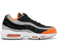 Air Max 95 Panelled Leather And Mesh Sneakers - Black