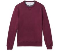 Cotton-blend Jersey Sweatshirt - Burgundy
