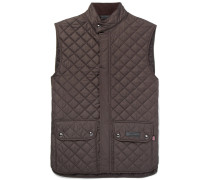 Quilted Shell Gilet - Dark brown