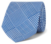 9cm Prince of Wales Checked Silk-Twill Tie