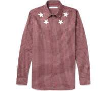 Printed Checked Cotton Shirt