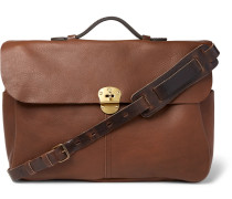 Charles Full-grain Leather Briefcase - Brown