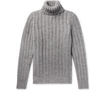Slim-fit Mélange Alpaca-blend Rollneck Sweater
