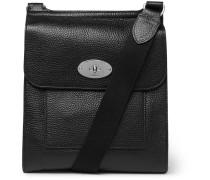 Antony Full-grain Leather Messenger Bag - Black