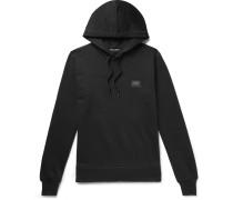 Logo-Appliquéd Loopback Cotton-Jersey Hoodie