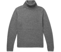 Wool, Yak And Cashmere-blend Rollneck Sweater - Gray