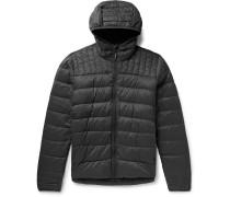 Brookvale Quilted Ripstop Hooded Down Jacket - Dark gray