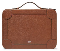 Belgrave Pebble-grain Leather Portfolio - Chocolate