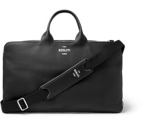 Cube Piped Leather Holdall - Black