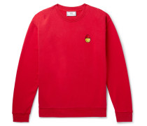 + The Smiley Company Logo-appliquéd Loopback Cotton-jersey Sweatshirt - Red