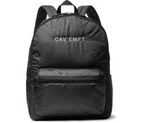 Logo-embroidered Shell Backpack - Black