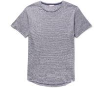 OB-T Slim-Fit Striped Slub Linen-Jersey T-Shirt
