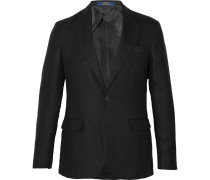 Black Morgan Slim-fit Unstructured Linen Blazer