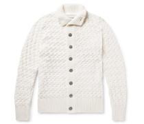 Stark Slim-fit Merino Wool Cardigan - White
