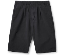 Manager Cotton-faille Drawstring Shorts