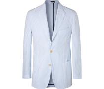 Light-blue Striped Cotton-seersucker Blazer