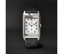 Reverso Classic Large Duoface Small Seconds Automatic 28.3mm 18-Karat Rose Gold and Alligator Watch