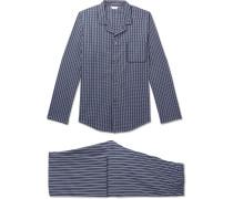 Royal 211 Striped Cotton Pyjama Set - Navy