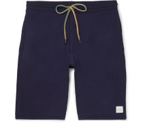 Cotton-jersey Drawstring Shorts - Navy