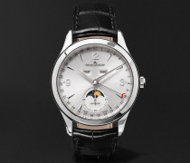 Master Calendar Automatic Stainless Steel and Alligator Watch, Ref. No. Q9028471