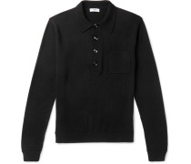 Curtis Slim-fit Wool Polo Shirt - Black
