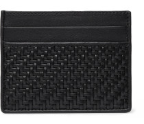 Pelletessuta Leather Cardholder - Black
