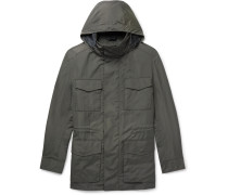 Shell Hooded Field Jacket With Detachable Quilted Gilet - Green